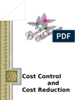 cost reduction and control technique