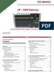 Hypermedia Hg 4000 6U Voip Gsm Data Sheet Dec 2009