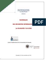 Materiales Del Encuentro Internacional La Filosofía y Su Otro (Actas) CD-ROM_2010