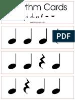 Rhythm Cards Set 2 q h Dh w Notes q h w Rests
