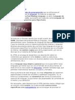 Definicion y Descripcion de HTML