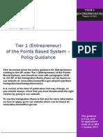 Tier 1 Entrepreneur Guidance 1 03/13
