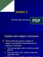 Errors With Pronouns