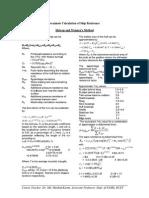 Holtrop Resistnace Method