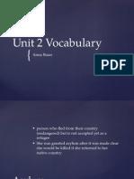 unit 2 vocab