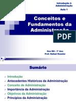 Conceitos e Fundamentos da Administração