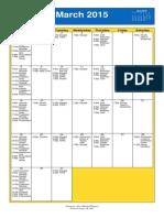 March 2015 Oakmont UMC Calendar
