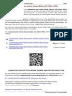 Communication Systems By Simon Haykin 2nd Edition Pdf
