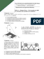 Mecânica A - P1 - 2005