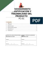 Identificación y Trazabilidad Del Producto