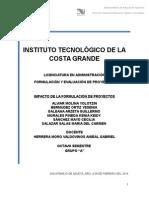 1.2. Impacto de La Formulación y Evaluación de Proyectos...