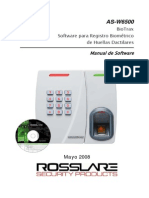 As-W6500 Biotrax Manual Spanish