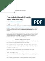 Excel UDF Funcao Definida Pelo Usuario UDF No Excel 2010