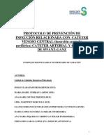Protocolo de Prevencion de Infeccion Relacionada a Cateter.