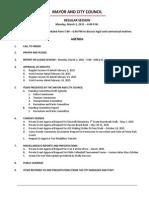 March 2 2015 Complete Agenda