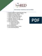 Listado Archired Instituciones