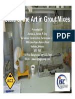 State of the Art in Grout Mixes