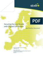Secure Service Access With Digital Certificates