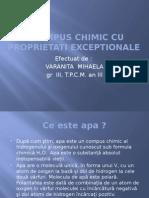 Apa- Compus Chimic Cu Proprietati Exceptionale
