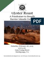 Barrier Islands Center Oyster Roast Program