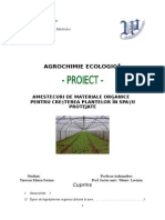 Amestecuri de Materiale Organice Pentru Creșterea Plantelor