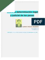 La determinacion legal y judicial de las penas en la legislación nacional