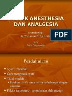 Tehnik Anesthesia Dan Analgesia