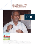 Sri Lanka Pattani Razeek, Fifth Anniversary of Abduction and Murder