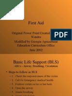 First Aid Joel Wondra
