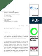 Lettre de Testbiotech à Manuel Barroso