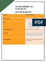 Proyecto de Aprendizaje Con Integración de Las Tic