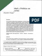Heterogeneidad y política en Bataille y Laclau.