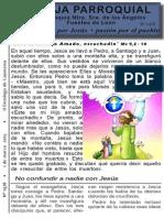 Hoja Parroquial nº 1478  de 1 marzo 2015