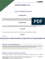 21213 DECRETO DEL CONGRESO 71-86 Ley Sindicalizacion y Reg de Huelga t Estado