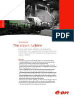 Öresundsverket - Factsheet for the Steam Turbine