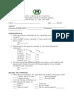Survey for yolanda victims