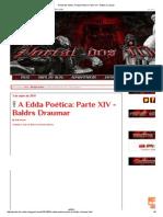 Portal Dos Mitos_ a Edda Poética_ Parte XIV - Baldrs Draumar