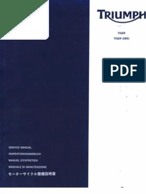 Workshop Manual Triumph Tiger_1050 - 2006 | Screw | Lubricant