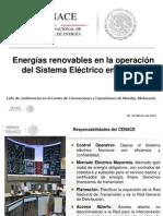 Energías Renovables en La Operación Del Sistema Eléctrico en México