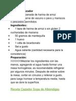 RECETAS Genotipo Cazador.docx