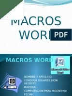 Macros Word
