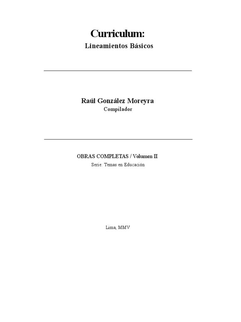 Curriculum Lineamientos Básicos