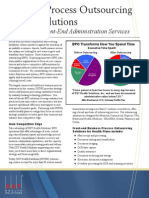 BPO Front-End Administration Services Product Sheet