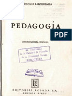 Pedagogía Lorenzo Luzuriaga