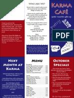 Karma Cafe Pamphlet