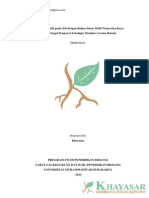 Proposal Penelitian Biologi Murni