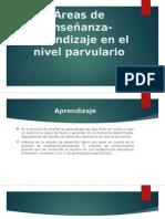 Áreas de enseñanza-aprendizaje en el nivel parvulario.pptx