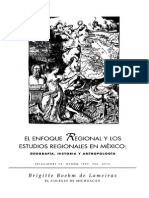 Boehm_El Enfoque Regional y ,Los Estudios Regionales en México