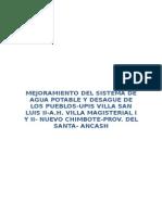 Mejoramiento Agua-UPIS Villa San Luis