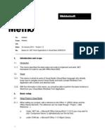 Memo Basics .NET and Office 2003